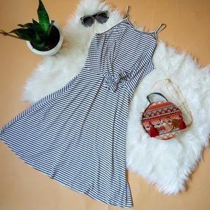 Striped tie dress